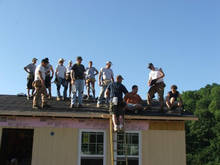 Roofing crew, Tuesday morning